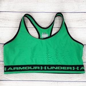 Under Armour Green & Black Sportsbra